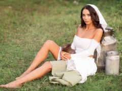 невеста, модель, brunette
