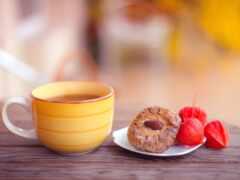 чая, cookie, cup