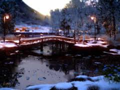 melt, река, мост