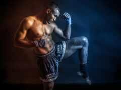 fond, boxe, thai