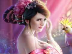девушка, fantasy, art