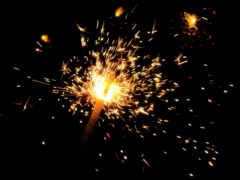 огонь, бенгальский, пламя