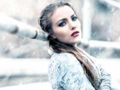 invierno, moda, para