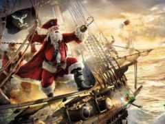 пиратский, пиратский, корабль