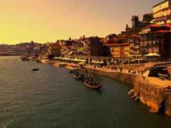 город, португалия, порт