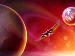planet, red, космос