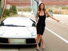 car, современный, девушка