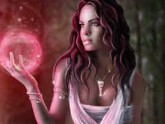 девушка, магия Фон № 23246 разрешение 1920x1200