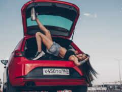 sports, car, девушка