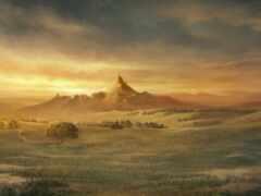 house, гора, landscape