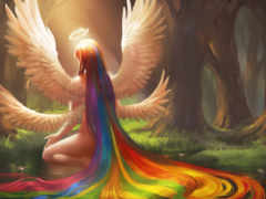 sakimichan, ангел