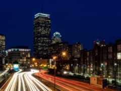 boston, traffic, город