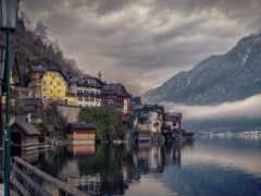 австрия, hallstatt, гора