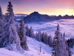 winter, гора, oir