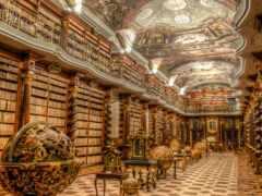 библиотека, красивый, миро