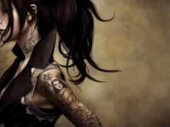 татуировка, pierce, motor
