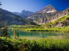 горы, озеро, summer