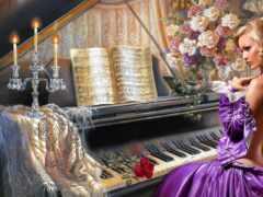 piano, dnee, вышивка