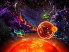 art, planet, star