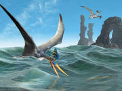 море, арка, динозавры