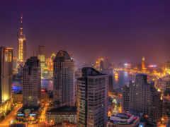 город, ночь, china