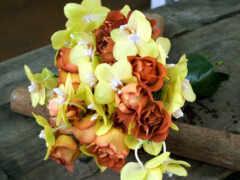 орхидея, букет, цветы