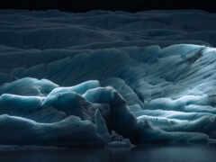 glacier, layer, природа