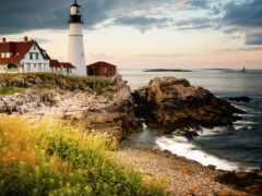 природа, lighthouse, море