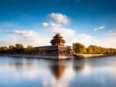 небо, китайская крепость