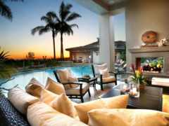 гостиная и бассейн