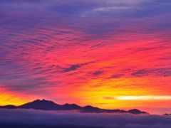 закат, iphone, небо