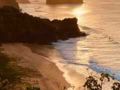 во, пляж, дневной