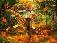 осень, эльф, fantasy