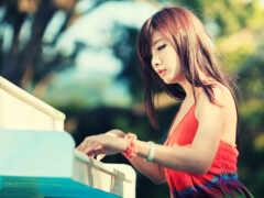 piano, девушка, hot