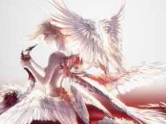 art, фея, перышко
