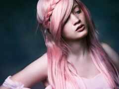 волосы, розовый, тема