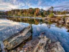 небо, природа, озеро