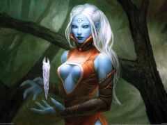 эльф, blue, skin
