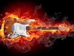 пламя, гитара, фото