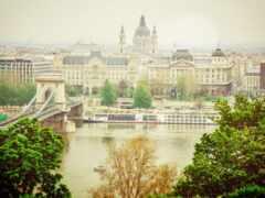 budapest, мост, река