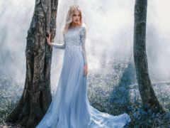платье, девушка, лес
