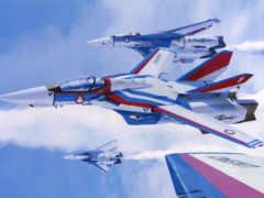 macross, рисованные, самолеты