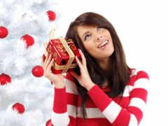 christmas, девушка