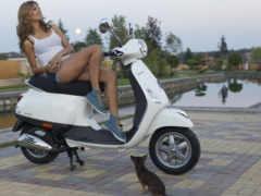 девушка, скутере, devushki