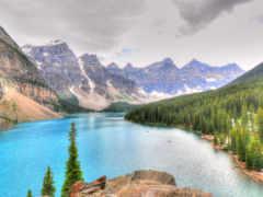 озеро, канада, природа