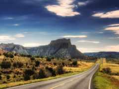 пустыня, дорога, каньоны