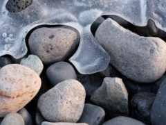 море, замёрзшее, камни