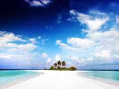остров, her, palm