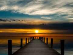закат, sun, море