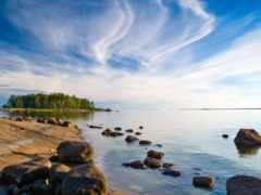 остров, берег, финляндии